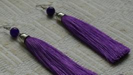 Серьги фиолетовые