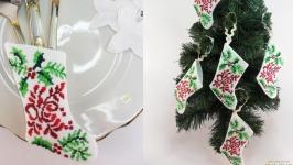Кармашки для столовых приборов Сервировка новогоднего,рождественского стола