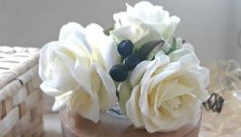 Вінець для волосся з кущовими трояндами