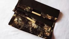 Сумка для дров ′Помощница′ для бани большая с деревянными ручками