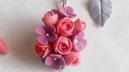 Серьги цветочные нежные