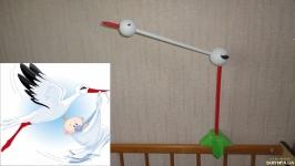 Кронштейн крепеж держатель для детского мобиля Аист. Лелека