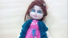 Кукла вязаная, коллекионная, интерьерная, ручная работа
