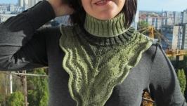 Манишка женская ′Дарина′ зеленая