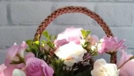 Интерьерная корзинка ′Капучино′