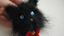 Брошь Черный кот
