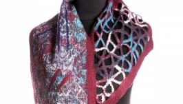 Бордовый шарф из шерсти мериноса