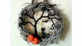 тут изображено Венок декоративный светящийся ′ Хеллоуин′