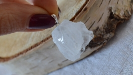 Кулон из горного хрусталя на серебре на кулоннике ′Горный кристалл′