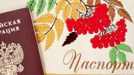 Обложка на паспорт ′Рябиновая осень′