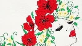 Обложка на паспорт ′Девушка - Весна′