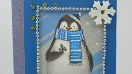 Открытка ручной работы ′Веселая зима′