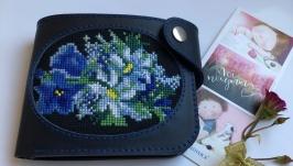 Гаманець з вишивкою «Польові квіти»