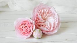 Шпильки для волос с пионовидными розами, Розовые цветы в прическу невесты