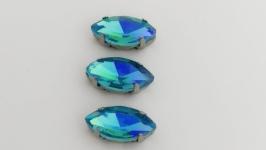 Риволи ′маркиз′ голубого цвета в оправе
