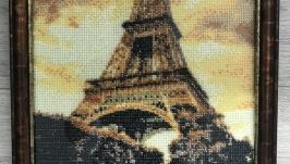 Картина бісером «Ейфелева вежа»