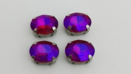 Риволи ′овал′ фиолетовые 10*7мм