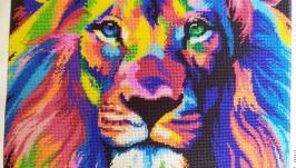 Радужный лев А3 без рамки