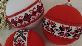 Набір ялинкових іграшок ′Червоно-чорне′