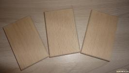Бук. Заготовка деревянная прямоугольная с каемкой
