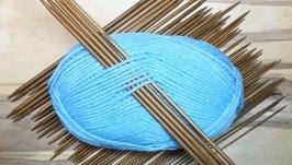 Спицы чулочные для вязания, 25см 2-5 мм. Бамбуковые. Набор 55 шт.