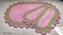 Комплект ковриков (3 шт.) в стиле Прованс, декор для дома