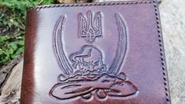 Кошелек (гаманець) с козаком. Ручной шов, ваш рисунок на выбор.