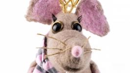 Валяная игрушка Крыса - символ 2020 года
