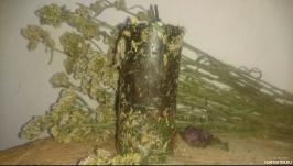 Восковая свеча с травами на поиск новой работы ′три в одном′