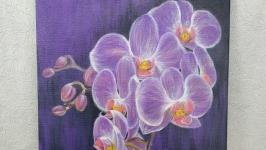 Картина акрилом ′Орхидея′