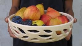 Керамічний друшляк, ажурна піала для фруктів