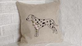 Подушка декоративна з вишивкою
