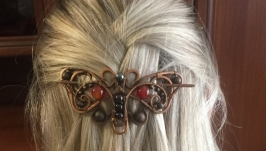 Медная заколка-фибула «Бабочка»