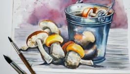 Картина ′ Пришла грибна пора′ живопис