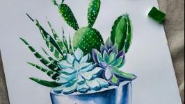 Ботанічна Ілюстрація, живопис акварель