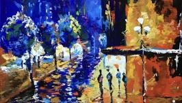 Абстракция,арт «Парижский бульвар»