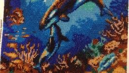 Картина Підводний світ - вишита чеським бісером Preciosa.