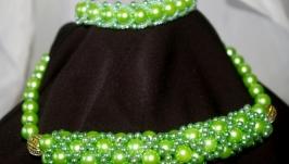 Колье и браслет ′Зеленая нежность′
