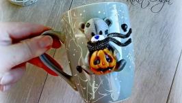 Чашка МИшка Тедди на Хеллоуин