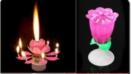 Музыкальная свеча для торта Цветок