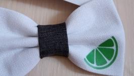 Краватка метелик лайм