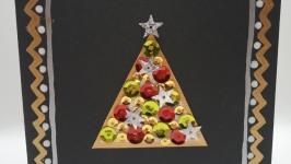 Открытка ручной работы ′Праздничное дерево′