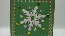 Открытка ручной работы ′Новогодняя снежинка′