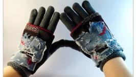 Перчатки со съемными митенками из неопрена.