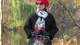 Комплет: валяная сумка и шарф