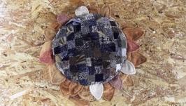 Декоративная подушка ′Подсолнух с семечками′