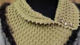 Манишка и шапочка ′Песочный′