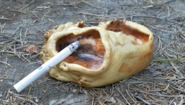 Пепельница из капа