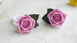 Резинки для волос с розами для девочки в подарок на день рождения