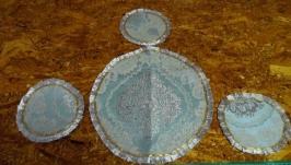 Салфетки декоративные - комплект ′Серебро′
